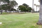 Park greens in Mission Beach San Diego California