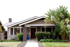Single Story home with lush green yard is part of North Park in San Diego California