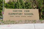 Canyon View Elementary School Sign near Park View Estates