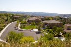 View of the houses in peaceful Sanctuary Neighborhood with the San Diego valley as the backdrop
