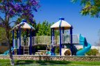 Residents of the Stonebridge community enjoy ease of access to children play area in San Diego California