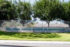 This is Solana Highlands Elementary School sign in The Heights Neighborhood