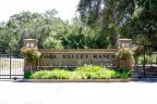 The Cool Valley Ranch Estates Marquee sits in the center of the gated entrance
