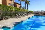 A large oasis pool at Pacific Shores in Huntington Beach