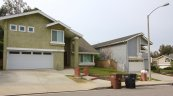 Front exterior to homes from street in Aliso Place Laguna Hills