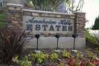 Entrance sign for the community of Anaheim Hills Estates