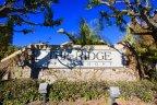 Entrance sign to community of Anaheim Ridge Estates Anaheim Hills CA
