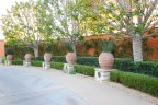 Custom urns and landscaping for Aubergine Newport Coast