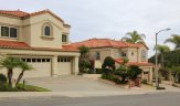 Exterior home fronts in Belle Maison, Laguna Niguel CA