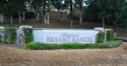 Sign at the entrance of the Bryant Ranch community in Yorba Linda
