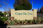 Entrance sign for Copa De Oro Anaheim Hills ca
