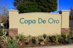 View of entrance marquee in Copa De Oro located in Anaheim Hills CA