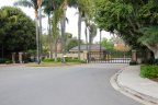 Private gates to Crest De Ville community in Laguna Niguel CA