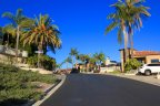 Inside of Diamond Ridge Estates, wide well maintained streets exist