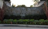 Entrance marquee to the community of Harbor Hill, Newport Beach CA