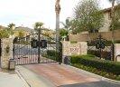 Private gates at entrance to Hillcrest Estates Laguna Niguel CA