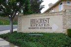 Sign at entrance to Hillcrest Estates, Laguna Niguel CA