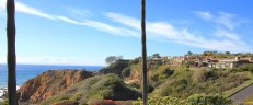 Hill side overlook with ocean view of Irvine Coast Laguna Beach