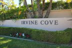 Marquee sign at entrance to Irvine Cove Laguna Beach