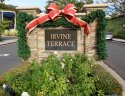 Marquee and sign to entrance of Irvine Terrace