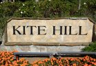 Entrance sign to Kite Hill, Laguna Niguel CA