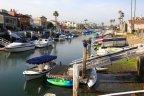 Bay view with docks, boat slips