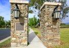 Entrance pilars to Newport Coast community of Newport Ridge