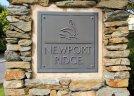 Newport Ridge Newport Coast CA entrance sign and marquee