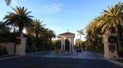 Entrance to guard gated community of Pelican Hill Newport Coast CA