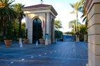 Guard gates at entrance to Pelican Hill Newport Coast CA