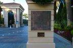 Sign at entrance to gates of Pelican Hill Newport Coast CA
