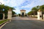 Guard gates at entrance to Pelican Point Newport Coast CA