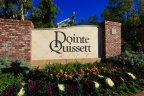 Side view of marquee for Pointe Quissett