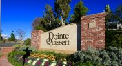 Front marquee and entrance to Pointe Quissett located in Anaheim Hills CA
