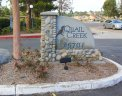 Marquee to entrance of community of Quail Creek, Laguna Hills CA