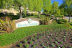 The entrance to Rancho Bella Vista will greet you with the community marquee