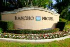 Marquee and entrance sign to Rancho Niguel, Laguna Niguel CA