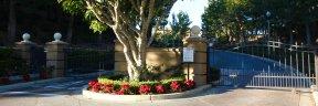 Driveway and front exterior to homes in Sancerre Newport Coast CA