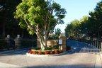 Security gates at entrance to Sancerre Newport Coast CA