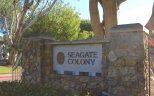 Sign at the entrance of Seagate Colony in Aliso Viejo
