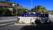 The entrance to the Shorecliffs community in San Clemente Ca