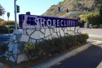 Shorecliffs community marquee in San Clemente Ca