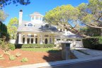 Front exterior to Nantucket style home in Smithcliffs Laguna Beach