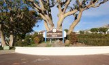 Park sign and marquee inside Spyglass Hill Corona Del Mar CA