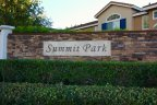 View of entrance marquee sign for Summit Park Anaheim Hills CA