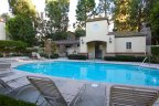 Private swimming pool and spa area in The Summit Newport Coast