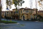 Front exterior view of townhomes within the gates of Trovare Newport Coast CA