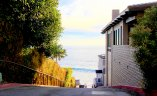 Street and pathway to ocean in Victoria Beach Laguna Beach