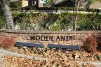 Mature landscaping dots the entrance of Woodlands in Aliso Viejo